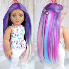 American Girl doll MAGIC VIOLET Premium wig Fits most 18''dolls Blythe OG
