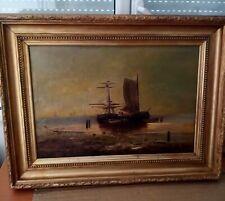 Marine. Huile sur toile signée SMITH? XVIII ou XIXémé siècle