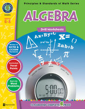 Algebra - Drill Sheets, Grades 6-8 MATH - DOWNLOAD
