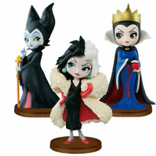 Q Posket Petit Maleficent Cruella Figure Set of 3 Villains 8-9CM Toy New in Box