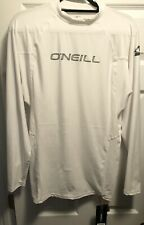 O'Neill Men's Basic Skins Uv Protection 50+ Long Sleeve Rash Guard, White, 2Xl