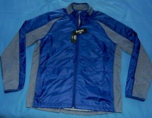 NWT Rhone Tech Terry Water Repellant Full Zip Jacket  Blue  Men's  XL  $168