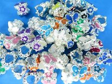 20pcs butterfly flower european bead Metal Alloy Loose Big Hole Spacer Charm