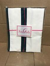 $150! Nwt Ann Gish Maypole w/ Grosgrain Ivory Lagoon Euro Pillow Sham Gorgeous!