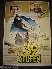 DIE 39 Stufen - KINOPLAKAT A1 -  THE  Thirty-Nine Steps
