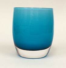 New ListingNew glassybaby Day One Aqua Overlay Hand Blown Votive Candle Tea Light Holder