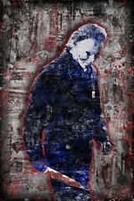 Michael Myers of HALLOWEEN Poster, Halloween Horror Print 16x20in Free Ship