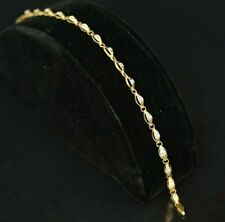 """EXQUISITE SOLID 10K SOLID GOLD BRACELET 7"""" - WITH DIAMONDS"""