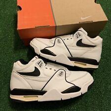 Vintage 90s Nike Air Flight 89 White Black Varsity Red 1999 Sneakers Size 7