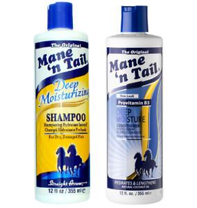 Mane 'n Tail Deep Moisturizing Hair Shampoo and Conditioner Dry Damage Hair 12oz