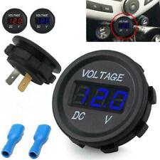 12V 24V Voltage Meter Car Marine Motorcycle LED Digital Voltmeter Battery V3K9