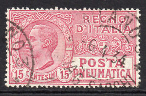 Italy 15 Cent Pneumatic Stamp c1913-28 Used (29b)