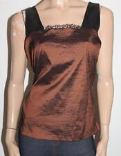 V LUXE Designer Copper Black Vampire Square Neck Cami Top BNWT #SH71