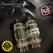 12AX7 RCA Long Black Plates [] Tilted Getter Matched Pair Tubes Made in USA '57