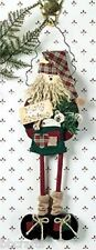 HOLIDAY HANDPAINTED CHRISTMAS SANTA DOOR KNOBBY DECORATION - NEW IN BOX