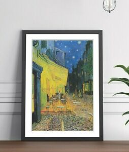 Van Gogh Cafe Terrace  FRAMED WALL ART POSTER PAINTING PRINT 4 SIZES