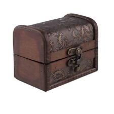Handmade Ring/Necklace/Earrings Jewelry Box Mini Vintage Wooden Storage Box FT