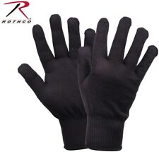 Black Winter Military Issue Polypropylene Winter Glove Liners Rothco 8413