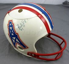 Autographed Houston Oilers Football Helmet - Signed by Bucky Richardson #1