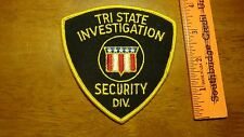 TRI STATE INVESTIGATION SECURITY DIV YOUNGSTOWN OHIO OBSOLETE PATCH BX 12#25