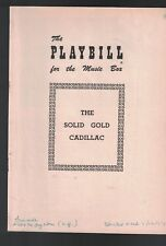 The Solid Gold Cadillac Playbill July 12 1954 Ruth McDevitt Loring Smith
