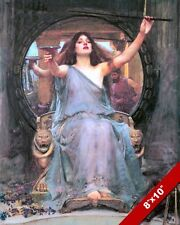 Greek Mythology Circe Offers Cup To Odysseus Oil Painting Art Real Canvas Print