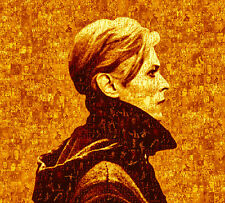 LARGE PHOTO MOSAIC POSTERS - SEPIA GOLD - DAVID BOWIE'S 'LOW' & 'YOUNG AMERICANS