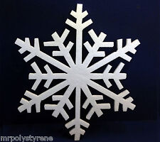 40 POLYSTYRENE CHRISTMAS WHITE SNOWFLAKES IN HD 1 DESIGN 360MM HEIGHT 10MM THICK