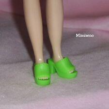 "12"" Neo Blythe Pullip Doll Fashion Wear Open End High Heel Shoes Green"