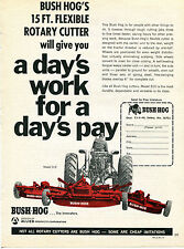 1971 Bush Hog Model 315 Rotary Cutter Tractor Mower Print Ad