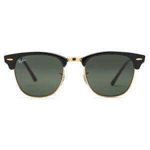 Ray-Ban Clubmaster Classic Sunglasses 51 mm Black and Arista Gold Frame