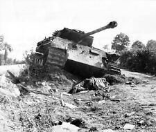 "Photo. WW2. France. A German tank Pz V Ausf. A ""Panther"" destroyed"