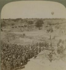 Lord Roberts Infantry & Balloon watching ahead for Boers - Boer War Stereoview