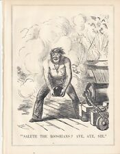 1854 Punch Cartoon Crimean War - Salute the Russians with a Cannonball