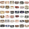 Fashion Unisex Pearl Leather Multi-layers Bangle Charm Wrap Cuff Bracelets Women