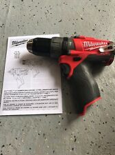 New Milwaukee 2404-20 M12 FUEL 12-Volt Brushless 1/2 in. Hammer Drill/Driver 12v