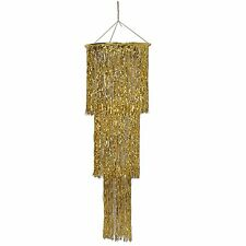 Beistle 1-Pack 3-Tier Shimmering Chandelier, 4-Feet, Gold #340473