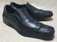 JOHNSTON & MURPHY SLIP ON LOAFERS BLACK LEATHER DRESS MENS SHOES 9.5 M