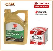 Toyota Prius 09-16 Genuine Oil Filter with 5 QUARTS OEM Idemtitsu Oil 04152YZZA6