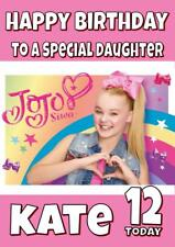 JOJO SIWA c PERSONALISED BIRTHDAY CARD - ANY NAME, AGE, RELATION