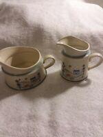 Vintage Stoneware By Hearthside Creamers- Primitif- Japan