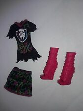 Monster High Doll Clothes Ghouls Spirit Venus Outfit Shirt Skirt Boots Shoes