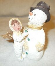 Sarah's Attic and Angel Snowman Chilly and Snow Flake 1995 Limited Edition Usa