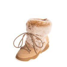 RRP€110 MOVIE'S Suede Leather Snow Boots Size 39 UK 6 US 9 Chinchilla Fur