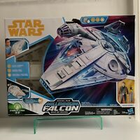 STAR WARS FORCE LINK KESSEL RUN MILLENNIUM FALCON HAN SOLO DISNEY HASBRO New