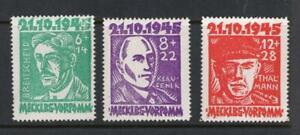 Mecklenburg-Vorpommern 1945 Set - OG MNH -SC# 12NB1-B3. Cats $75.00  No Reserve!