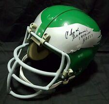 """Chuck Bednarik Eagles """"HOF 67"""" RK Suspension Helmet JSA"""