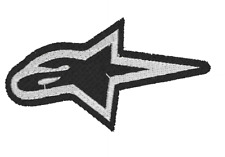 Alpine Star Logo Embroidered Iron On Patch