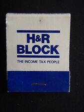H&R BLOCK THE INCOME TAX PEOPLE YEAR-ROUND INCOME TAX SERVICE MATCHBOOK