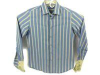 Robert Graham Mens Long Sleeve Button Front Dress Shirt Sz 15 1/2 39 French Cuff